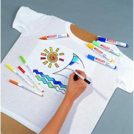 Edding Textielstiften 1 mm - basiskleuren - set van 10