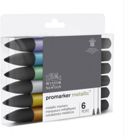 Winsor & Newton promarkers Metallic - set van 6