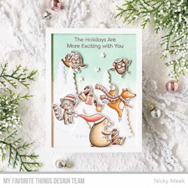 My Favorite Things clear stamps - set van 15 - Put the Jolly in the Holidays