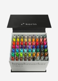 Karin Brushmarker PRO Mega Box - set van 60 kleuren + 3 blenders