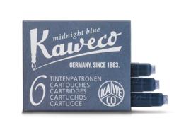 Kaweco inktpatronen - set van 6 - Midnight Blue