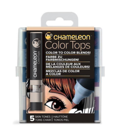 Chameleon Alcohol based Color Tops - Skin Tones - set van 5