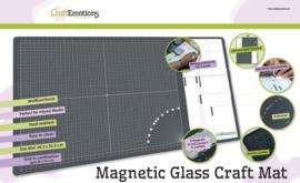 CraftEmotions magnetisch glazen media Mat - 60,3 x 36,2cm + GRATIS CraftEmotions Snijmes + GRATIS BINGOKAART