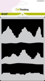 CraftEmotions Mask stencil - Arctic Winter bergen - A5 - Carla Creaties