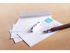 Enveloppen 114x162mm C6 wit met plakstrip - 25 stuks - Wit