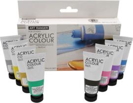 Art Rangers acrylverf Metallic kleuren - set van 8