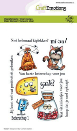 CraftEmotions clearstamps A6 - Beterschap 1 - Carla Creaties