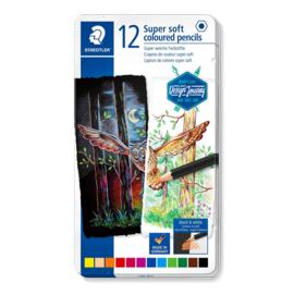 Staedtler Super soft potloden - set van 12 in metalen blik