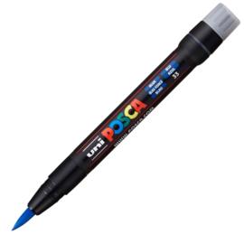 Uni Posca Paint Marker Brush pen PCF-350 - Donkerblauw