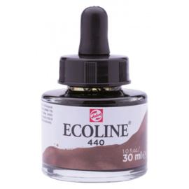Talens Ecoline Vloeibare waterverf 30 ml - 440 sepia donker