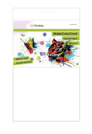 CraftEmotions WaterColorCard - Briljant wit A4 - 10 vellen 350 grams papier