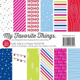 My Favorite Things – Paper Pad 15 x 15 cm - 24 vellen - Holly Jolly