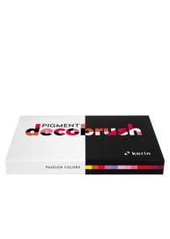 Karin Pigment DecoBrush Acrylmarkers  - set van 12 - Passion Colors