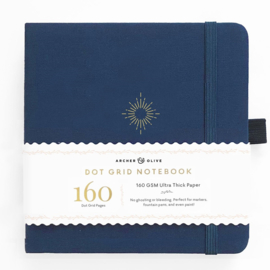 Archer & Olive bulletjournal/Notitieboek 20,3 x 20,3 cm - 160 pagina's - Dotted - North Star