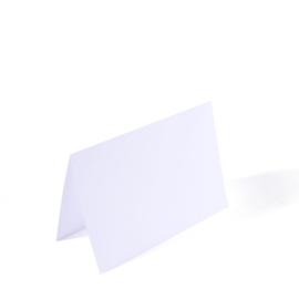 Florence - dubbele kaarten 10,5 x 15,7 cm wit - set  van 25
