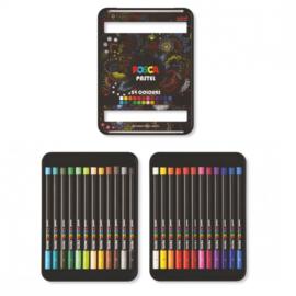 Posca pastel - set van 24 kleuren