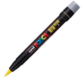 Uni Posca Paint Marker Brush pen PCF-350 - Geel
