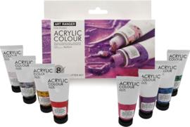 Art Rangers acrylverf Glitter kleuren - set van 8