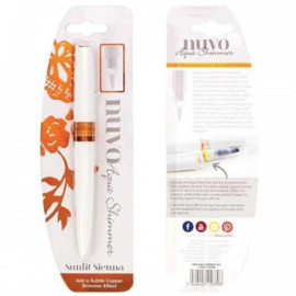 Tonic Studios Nuvo aqua shimmer glitter brush pen - Sunlit Sienna - 880N