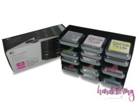 Spectrum Noir opbergbox zwart voor 18 Distress Oxide Inkt Pads groot