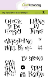 CraftEmotions clearstamps A6 - Handletter -  Choose to be happy - Carla Kamphuis