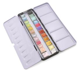 Paintersisters Aquarelverf  ARTIST - set van 24 kleuren Metallic kleuren