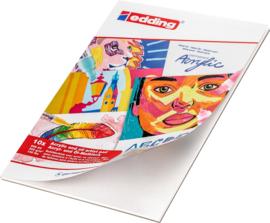 Edding acryl- en olieverf schilderblokken - 10 vellen - A4