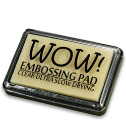 WOW Embossing pad groot clear extra langzaam drogend