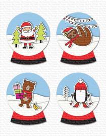 My Favorite Things clear stamps - set van 18 - Snow Globe Singles