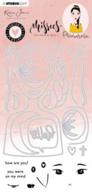 Studio Light Clear Stamp & Die Cut 11,5 x 24 cm Karin Joan - Primarina Missees Collection nr.06 - Starter set (Leverbaar week 12)