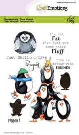 CraftEmotions clearstamps A6 - Penguin 1  - Carla Creaties