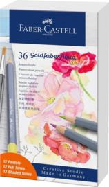 Faber Castell Aquarelpotlood Goldfaber Creative Studio - set van 36