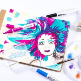 Vaessen Creative - Journal Stamp Book A5  - 48 vellen - Wit