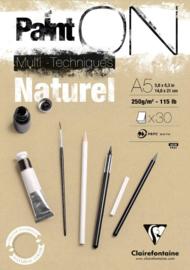 Clairefontaine Paint-ON Multi-Technique mixed media A5 - 30 vellen - 250 grams - naturel papier