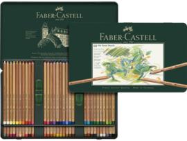 Pastelpotlood Faber Castell pastel metalen blik - set van 60