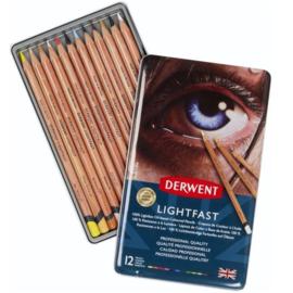 Derwent Lightfast kleurpotloden - set van 12