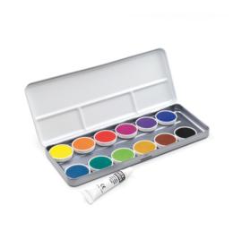 FINETEC - verftablet 30mm waterverf aquarel 412/01 - 12 kleuren