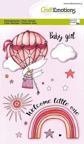 CraftEmotions clearstamps A6 - Babygirl