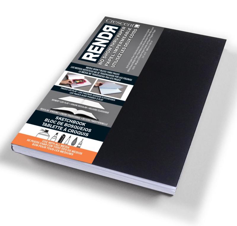 Rendr Alcohol Marker Sketchbook 8,9 x 14 cm - 64 pagina's - 180 grams Wit