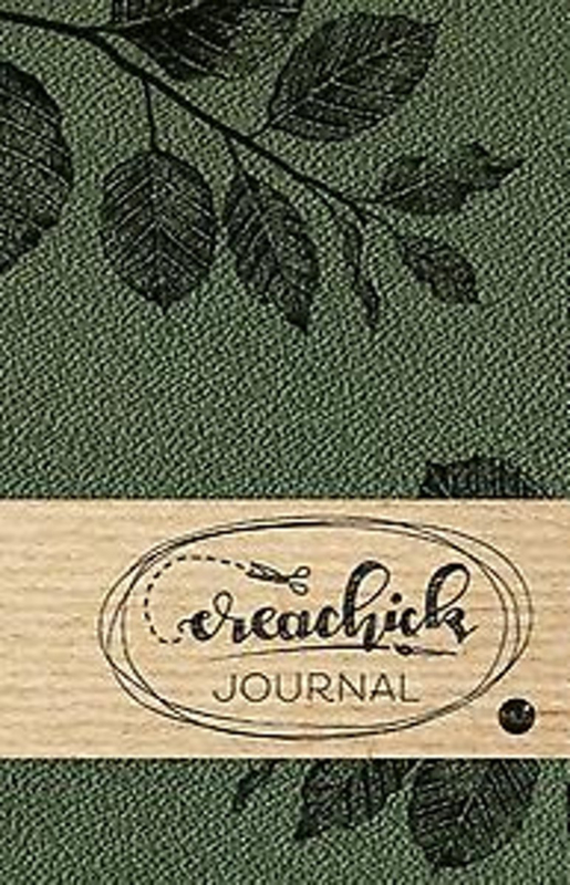 Creachick Journal A5 - 208 pagina's crème wit - Dotted - donkergroen
