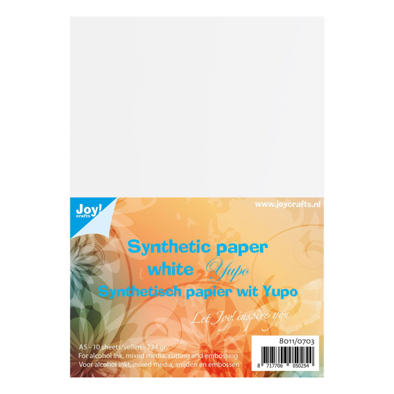 Joy!Crafts - Yupo papier synthetisch wit - A5 - 234 grams - 10 vellen