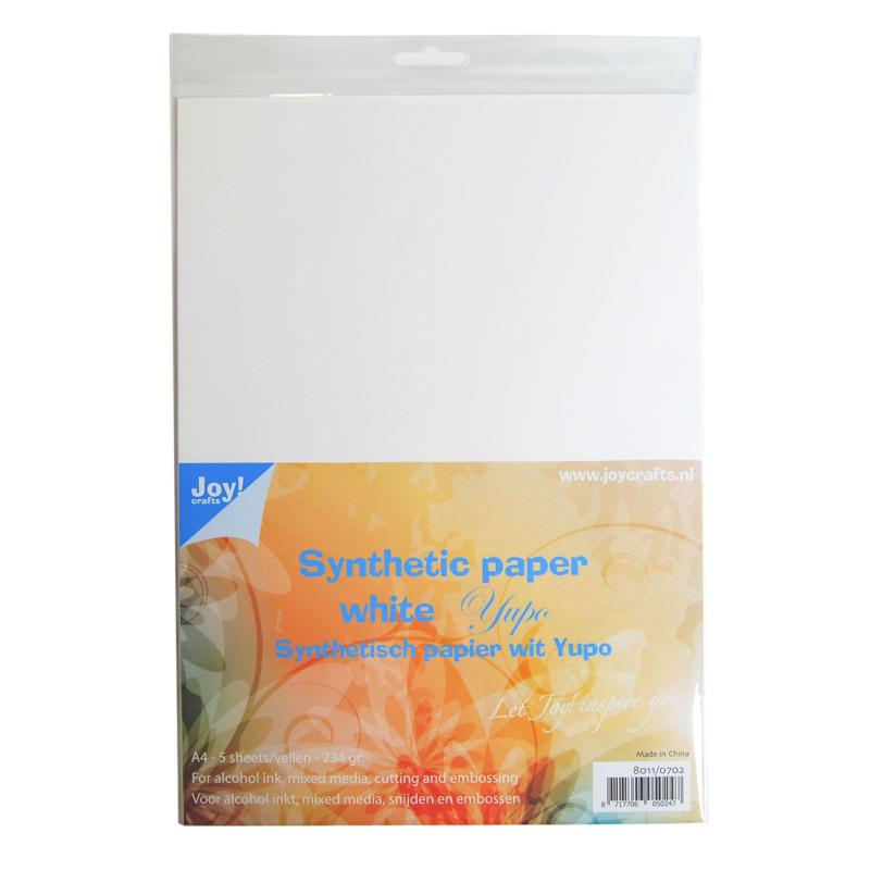 Joy!Crafts - Yupo papier synthetisch wit - A4 - 234 grams - 5 vellen