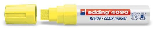 Edding 4090 Raam/krijtstift XXL - Beitelvormige punt 4-15 mm - Neongeel