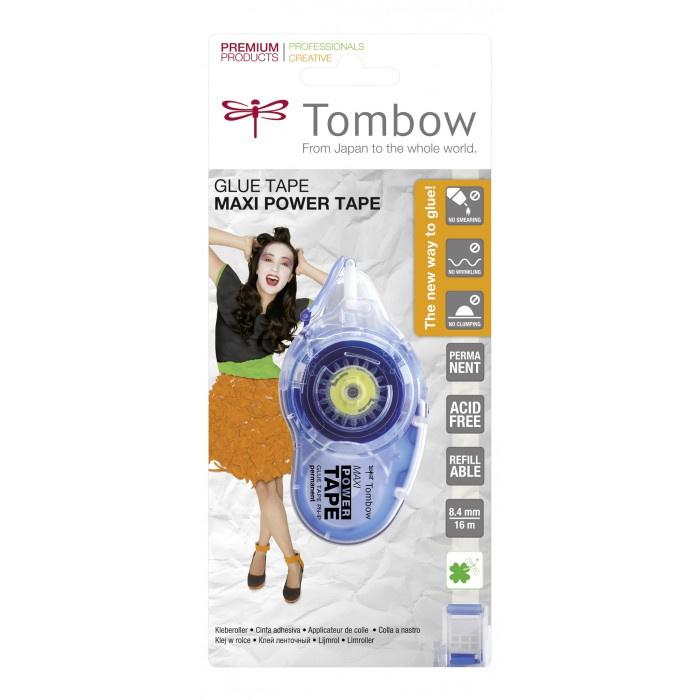 Tombow PN-IP Maxi Power Glue Tape - Refillable - Permanent lijmroller