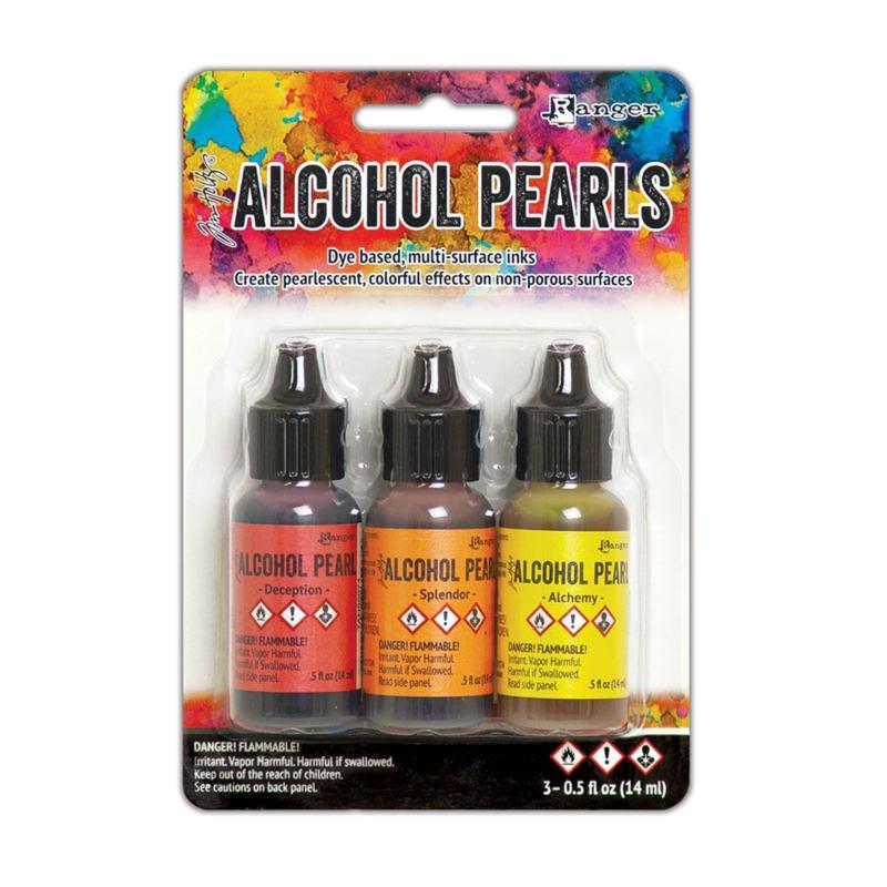 Tim Holtz alcohol ink Pearls kit 1 - set van 3