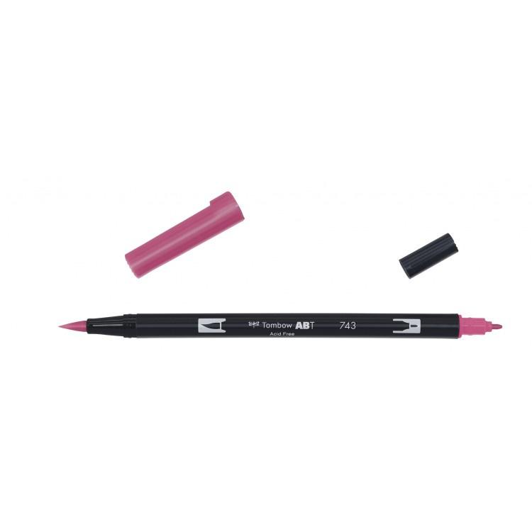 Tombow ABT Dual Brush Pen 743 hot pink