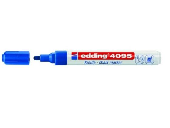 Edding 4095 Raam/krijtstift - rond 2-3 mm - Blauw