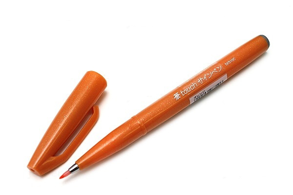 Brushpen Pentel Touch Pen SES15C - Oranje