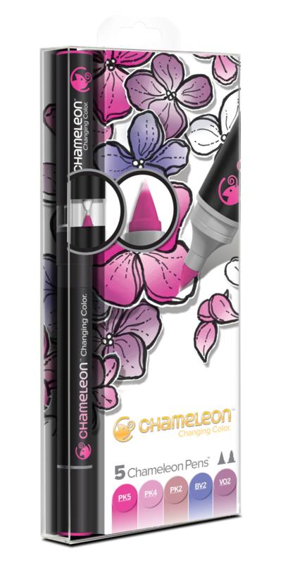Chameleon Alcohol based Pens - Floral Color Tones - set van 5