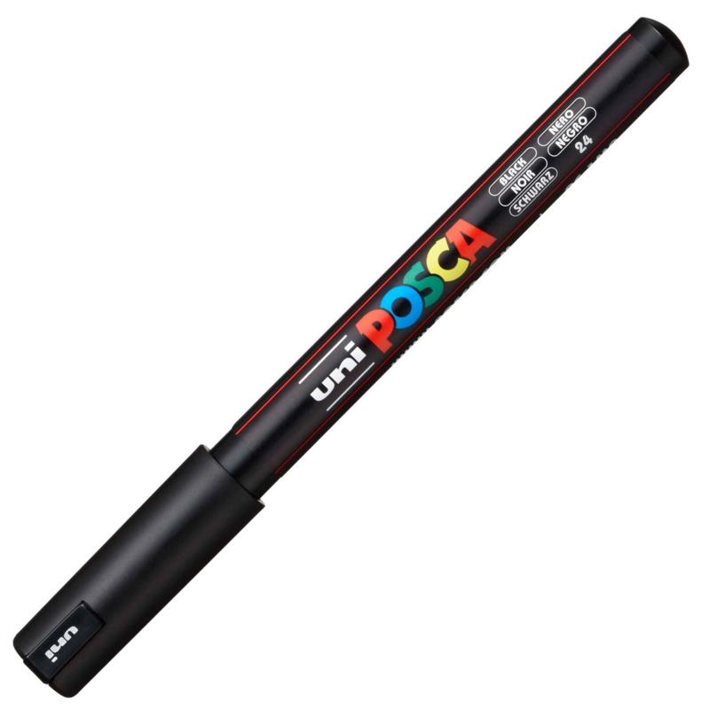 Uni Posca Paint Marker PC-1MR - Ultra Fijn - Zwart